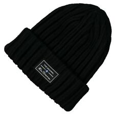 BEN SHERMAN Mens Solid Ribbed Knit Winter Beanie Hat Black One Size   BNWT a9e67dd5f507
