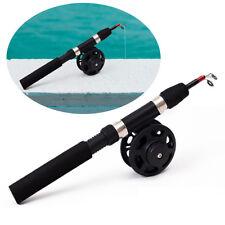 Durable Ultra-short Telescoping Ice Fishing Rod Kit Black EVA Model + 3B Wheel.