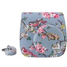 Case Bag with Strap PU Leather for Fujifilm Instax Mini 9 Mini 8 8+ Floral