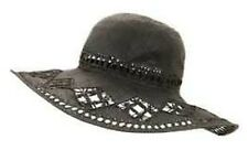 NEW WITH TAGS MISS SELFRIDGE BLACK STRAW HAT RRP £27.00