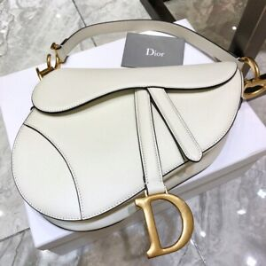 Christian Dior Saddle Bag Latte Grained Calfskin - New With Tag
