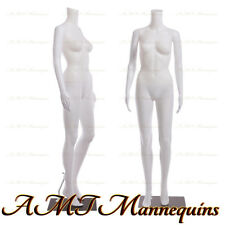 Female display mannequin+stand, manequin dressform white plastic manikin-FB-7W