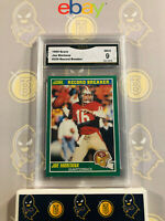 1989 Score Joe Montana #329 Record Breaker - 9 MINT GMA Graded Football Card