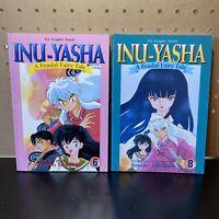 Inu-Yasha A Feudal Fairy Tale Graphic Novel Vol. 6 & 8 (2 Book Lot) Manga