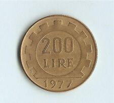 Italy 200 Lire (Lavoro) 1977, Miedź-Aluminium-Nikiel (Cu-Al-Ni)