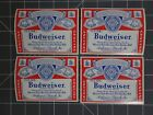 "Lot of 10 Vintage Budweiser Beer Labels 4.25x 3.125"" NOS"