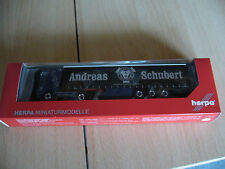"Herpa 307284 Scania R 13 TL GPlSz ""Andreas Schubert"" Blue Adriatico neu und ovp"