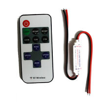 Mini Wireless Remote Controller RF Dimmer for 5050 Single Color LED Strip Lights