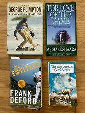Lot Of 4 Great Baseball Fiction Books - Plimpton (Sidd Finch), Kinsella, Deford