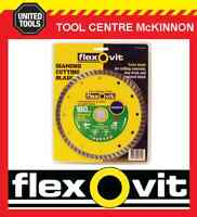 "FLEXOVIT 7"" / 180mm TURBO RIM DIAMOND WHEEL / BLADE FOR BRICK & CONCRETE ETC"