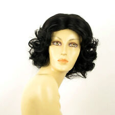 Peluca mujer mediano rizado negro CAMIE 1b  PERUK