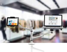 NEW Pyle PLPPADMT20 Dual Laptop & Tablet Holder Stand Swivel, Tilt & Rotation