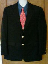 EUC Chaps Navy Blue Blazer Jacket Sport Coat 42L 42 L 100% Wool Gold Tone Button