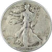 1938 D Liberty Walking Half Dollar VG Very Good 90% Silver 50c US Coin