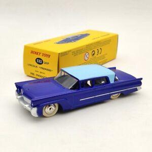1:43 DeAgostini Dinky Toys 532 24p Lincoln Premiere Blue Diecast Models Car