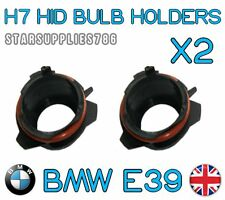 2x H7 BMW E39 HID HEADLIGHT HOLDERS BMW CONVERSION KIT BULB HOLDERS E39