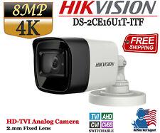 Hikvision 8MP 4K Turbo HD Analog Bullet Camera 2.8mm Fixed Lens IP67 IR 30m