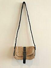 be4f951e6a Zimmermann Straw and Black Leather Cross Body Handbag