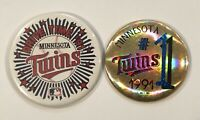Vintage 1991 Minnesota Twins Pinback Button Pin Set Drive Time '91 MLB Baseball