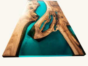 Epoxy Wooden Dining, Center, Sofa, Top Table Natural Wood Decors Made To Order