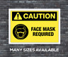 warning Stay Back vinyl floor sticker decal sign CAR caution face mask required