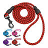 Nylon Dog Leash Strong Braided Rope Strong Pet Walking Leads 4ft Blue Red Purple