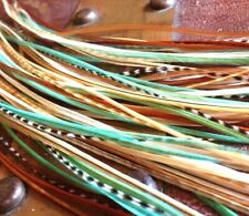 """*SALE* 30 pcs. Mint Long 8""""-13"""" Feather Hair Extension, Whiting Farms, DIY Kit"""