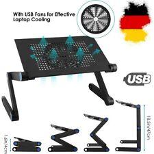 Faltbar Notebooktisch Laptoptisch Betttisch PC Ständer Klapptisch mit Ventilator