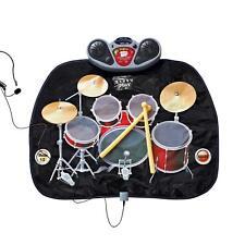 Kids Folding Drum Kit Playmat Fun Toy Speakers Drumsticks Musical Instrument MP3
