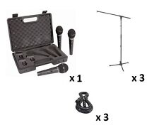 Behringer XM1800S Handheld Dynamic Microphones + 3X Mic Stands & 3 XLR Cables