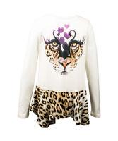 Roberto Cavalli Langarmshirt weiß Sweatshirt Sweater Tunika Bluse NP €130