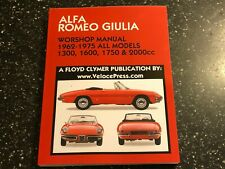 Alfa Romeo Giulia 1300 1600 1750 2000 GT -C VELOCE SUPER TI SPRINT SPIDER MANUAL
