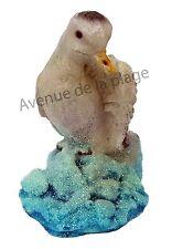 Statuette baromètre mouette sur rocher, sujet hygromètre, déco marine neuf