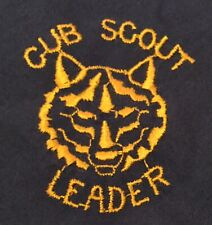 Blue Cub Scout leader Neckerchief Blue With Gold Piping And Letters