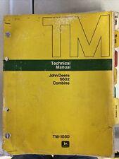 John Deere 6602 Combine Tm1080 Technical Manual