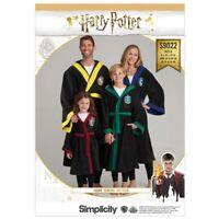 SIMPLICITY Sewing Pattern~9022 HARRY POTTER Miss Men Girls Boys Robes xs-l/xs-xl