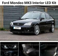 DELUXE FORD MONDEO MK3 00-07 WHITE INTERIOR UPGRADE ERROR FREE LED LIGHT KIT