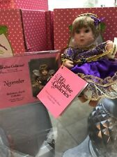 Paradise Galleries Treasury Collection Birthstone Angel Porcelain Doll November