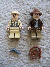 LEGO Indiana Jones - Rare - Indiana w/ Whip & German Soldier w/ Gun - Excellent