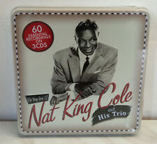 3 CD NAT KING COLE - THE VERY BEST OF - TIN BOX - NUOVO NEW