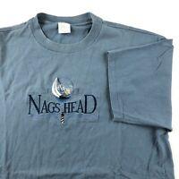 VTG 90s T Shirt XL Single Stitch Nags Head North Carolina Embroidered Graphic