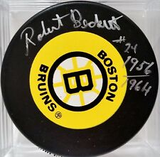 ROBERT BECKETT Boston Bruins AUTOGRAPHED Signed NHL Hockey Puck COA