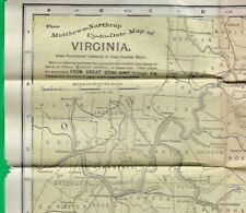 1894 MATTHEWS-NORTHRUP VEST POCKET MAP OF VIRGINIA