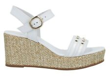 Sandali scarpe da donna con zeppa comoda Nero Giardini E012400D corda pelle
