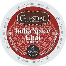 Celestial Seasonings K-Cup Portion Tea for Keurig Brewers-India Spice Chai 24 Ct