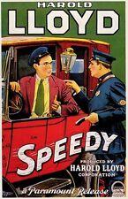 SPEEDY MOVIE POSTER Harold Lloyd RARE HOT VINTAGE