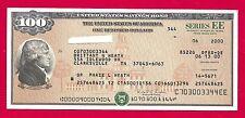 US Savings Bond UNCANCELED  $100.00  SAVINGS BOND SERIES EE UNCASHED