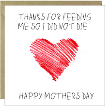 Funny Happy Mothers Day Card Mum Rude Humorous Comical Mam Mummy Square /CP
