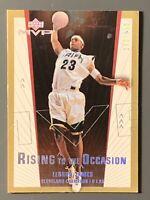 2003 Upper Deck MVP Lebron James Rookie #R02 Gold SP -#'d /250