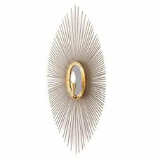 Regina Andrew Steel & Gold Leaf Sedona Metal & Mirror Decorative Wall Sconce